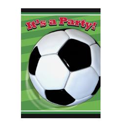 3-D Soccer - Foci Parti Meghívókártya és Boríték - 8 db-os