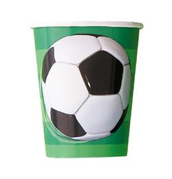 3-D Soccer - Foci Parti Pohár - 266 ml, 8 db-os