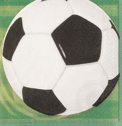 3-D Soccer - Foci Parti Szalvéta  - 33 cm x 33 cm, 16 db-os