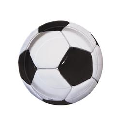 3-D Soccer - Foci Parti Tányér - 18 cm, 8 db-os