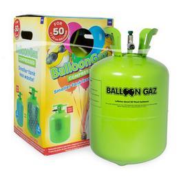 Eldobható Hélium Palack 50 db Latex Léggömb Felfújásához