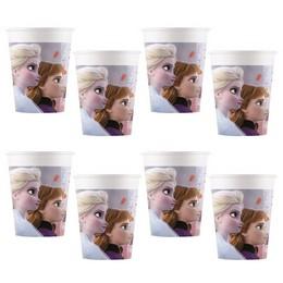 Frozen 2 - Jégvarázs Papír Parti Pohár - 200 ml, 8 db-os