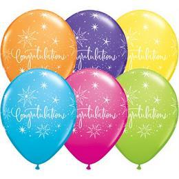 11 inch-es Congratulations  Lufi (6 db/csomag)