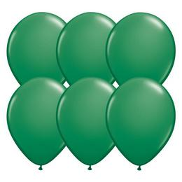 11 inch-es Green (Standard) Kerek Lufi (6 db/csomag)