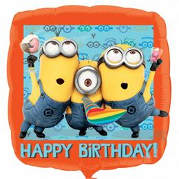 17 inch-es Minion - Despicable Me Happy Birthday - Szülinapi Fólia Lufi