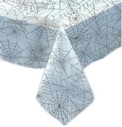 Pókháló Mintás Áttetsző Asztalterítő Halloweenre - 137 cm x 274 cm