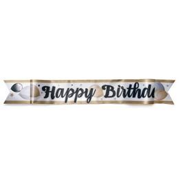 Happy Birthday Feliratú Elegáns Léggömbös Parti Vállszalag