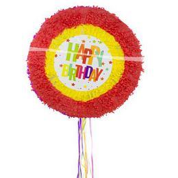 Happy Birthday Színes Kerek Csillagos Pinata Parti Játék