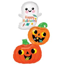 Happy Ghost & Pumpkin Stack Super Shape Fólia Lufi Halloween-ra
