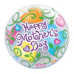 22 inch-es Happy Mother's Day Anyák Napi Bubble Lufi