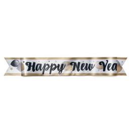 Happy New Year Feliratú Elegáns Léggömbös Parti Vállszalag