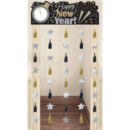 Happy New Year Szilveszteri Ajtó Dekoráció - 2 m