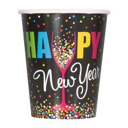 Happy New Year Szilveszteri Parti Pohár - 270 ml, 8 db-os