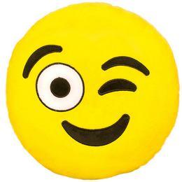 HappyFace Emoji Párna Kacsintó - 30 cm
