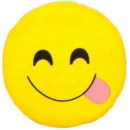 HappyFace Emoji Párna Nyelvkinyújtós - 30 cm