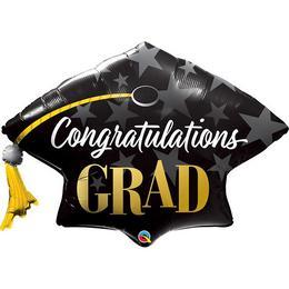41 inch-es Diplomakalap Alakú - Congratulations Grad Stars Ballagási Fólia Lufi