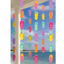Hawaii Flip Flop Papucsos Függő Dekoráció - 213 cm, 6 db-os