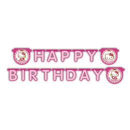 Hello Kitty Hearts - Szíves Happy Birthday Parti Füzér - 200 cm