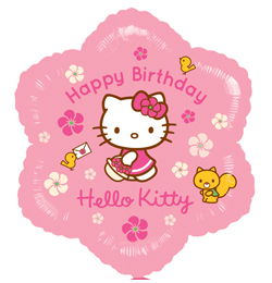 hello kitty születésnapi képeslap 18 inch es Hello Kitty Birthday   Szülinapi Fólia Lufi   Léggömb  hello kitty születésnapi képeslap