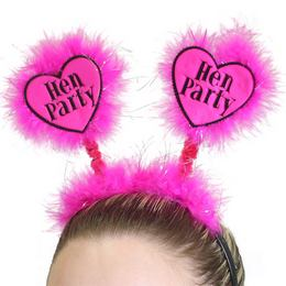 Hen Party Feliratú Pink Tollas Fejdísz Lánybúcsúra