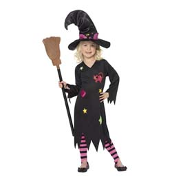 Fekete Boszorkány Jelmez Gyerekeknek - 3-4 éveseknek