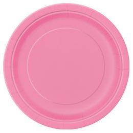 Hot Pink Papír Parti Tányér - 23 cm, 8 db-os