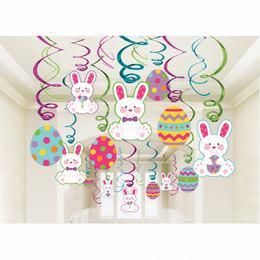 Húsvéti Spirális Függő Dekoráció, 30 db-os