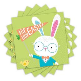 Hello Bunny Parti Szalvéta Húsvétra - 33 cm x 33 cm, 16 db-os