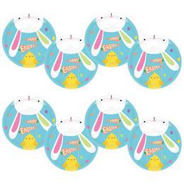 Hello Bunny Parti Tányér Húsvétra - 18 cm, 8 db-os