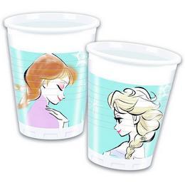 Jégvarázs - Frozen Sparkle Parti Pohár - 200 ml, 8 db-os