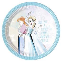 Jégvarázs - Frozen Sparkle Parti Tányér - 23 cm, 8 db-os
