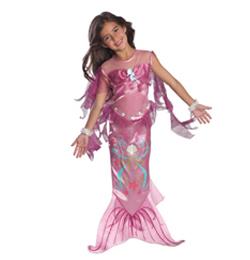 Rózsaszín Sellő Jelmez Kislányoknak, S-es