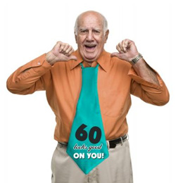 60-as 60 Looks Good On You! Feliratos Szülinapi Parti Nyakkendő