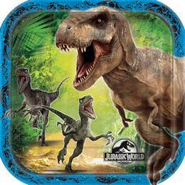 Jurassic World Parti Tányér - 8 db-os