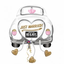 Just Married Wedding Autó - Car Super Shape Esküvői Fólia Lufi