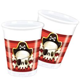 Powerful Pirates Parti Pohár - 200 ml, 8 db-os