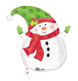 18 inch-es Hóemberes - Winter Snowman Karácsonyi Fólia Lufi