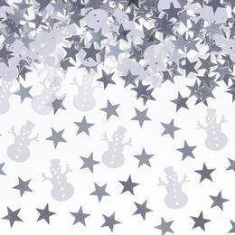 Karácsonyi Hóemberek és Csillagok Konfetti - 7 gramm