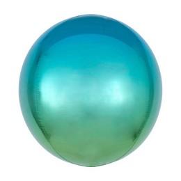 Kék Zöld Ultra Shape Orbz Lufi