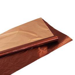 Kétszínű (Barna - Réz) Metál Fényes Fólia Csomagoló - 1 m x 20 m