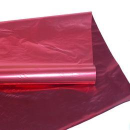 Kétszínű (Piros - Bordó) Metál Fényes Fólia Csomagoló - 1 m x 20 m