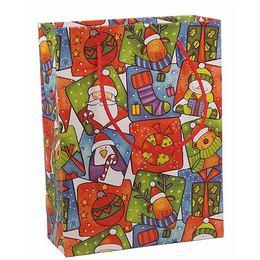 Kicsi Karácsony Mintás Papír Ajándéktasak