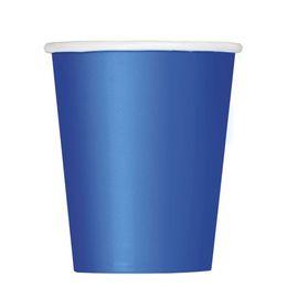 Royal Blue Papír Parti Pohár - 270 ml, 8 db-os