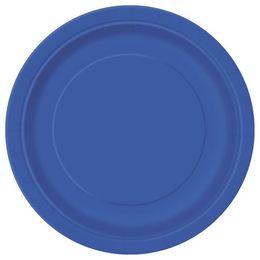 Royal Blue Papír Parti Tányér - 23 cm, 8 db-os