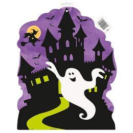 Kísértetház Karton Dekoráció Halloweenre - 40 cm