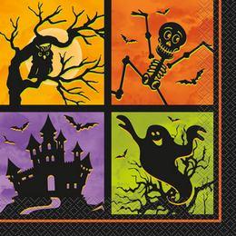 Kísértetház Szalvéta Halloweenre - 33 cm x 33 cm, 20 db-os