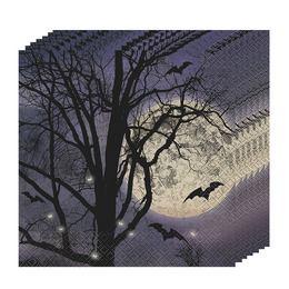 Kísérteties Éjszaka Halloween Parti Szalvéta - 33 cm x 33 cm, 16 db-os