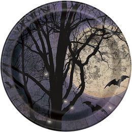 Kísérteties Éjszaka Halloween Parti Tányér - 22 cm, 8 db-os