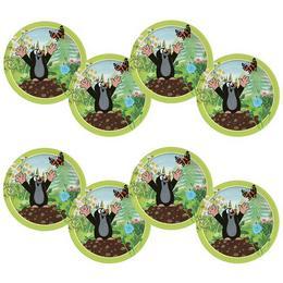 Little Mole - Kisvakond Parti Papír Tányér - 23 cm, 8 db-os