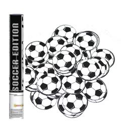 40 cm-es, Fekete-Fehér Focilabda Mintájú Konfettiket Kilövő Konfetti Ágyú